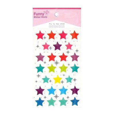 Adesivo Estrelas Coloridas em Relevo