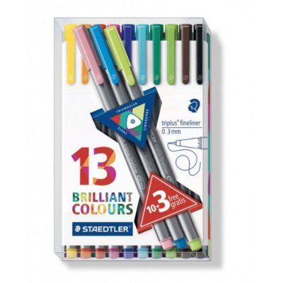 Conjunto Fineliner Brilliant Colours 13 cores