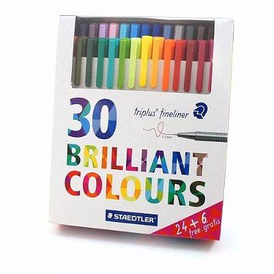 Conjunto Fineliner Brilliant Colours 30 Cores