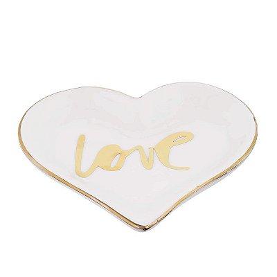 Porta Bijoux Love Branco