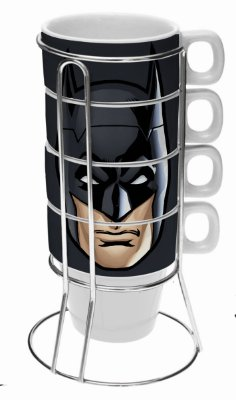 Conjunto Xícara Cappuccino Batman