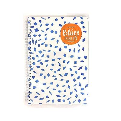 Caderninho Espiral Médio Azul