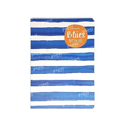 Caderninho Brochura Médio Azul