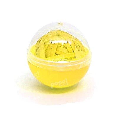 Estojo Bolinha de Elástico Amarela