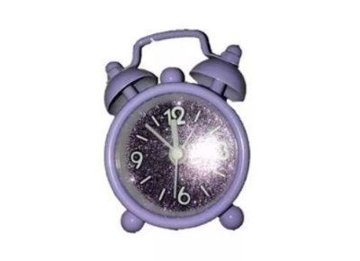 Mini Relógio Roxo com Glitter
