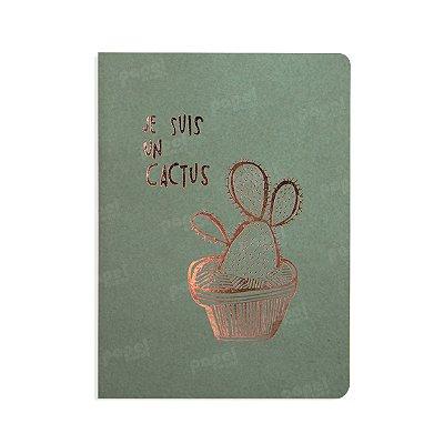 Caderno Verde Je Suis Un Cactus