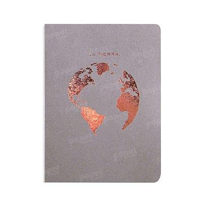 Caderno Cinza La Tierra