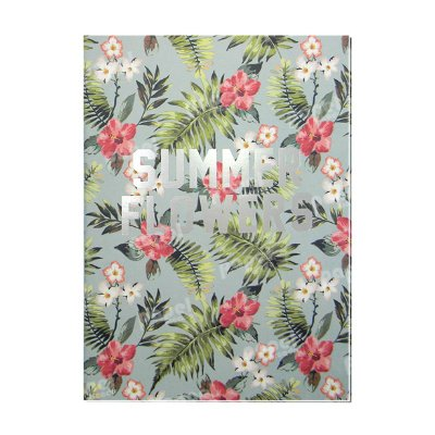 Caderno Tropical Summer Flowers