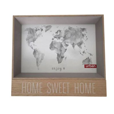 Porta Retrato Home Sweet Home Cinza