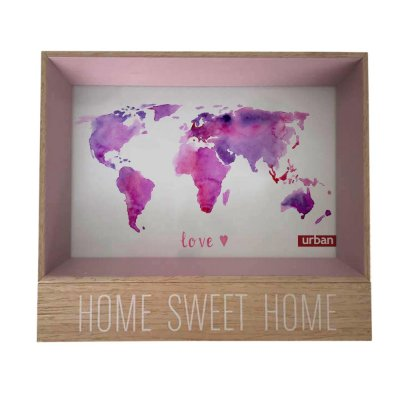 Porta Retrato Home Sweet Home Rosa