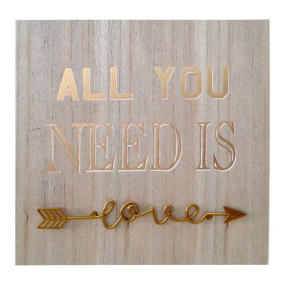 Quadro de Madeira All You Need