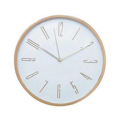 Relógio de Parede Grande Rosé 32x32cm