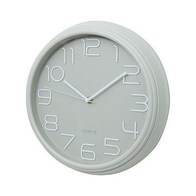 Relógio de Parede Clean Cinza 30x30cm