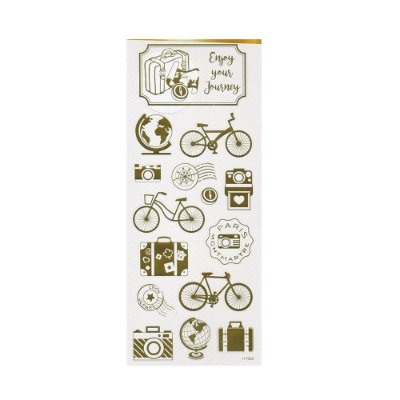 Adesivo Foil Dourado Férias