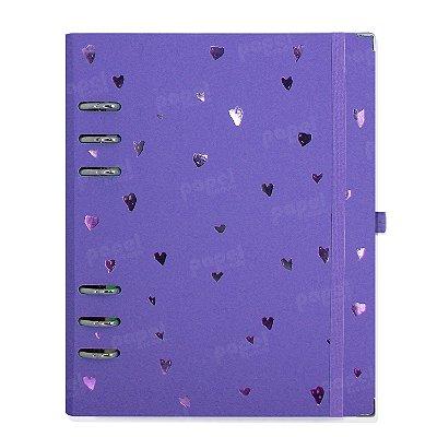 Planner Organizador A5 - Corações Lilás