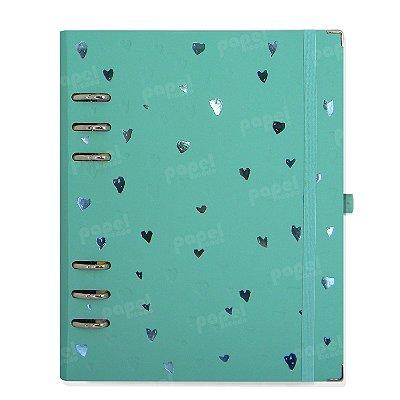 Planner Organizador A5 - Corações Azul