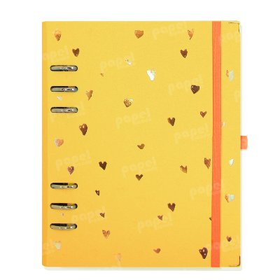 Planner Organizador A5 - Corações Amarelo