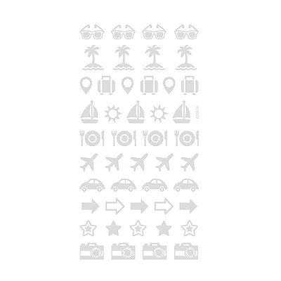 Adesivo Mini Foil Prata Verão