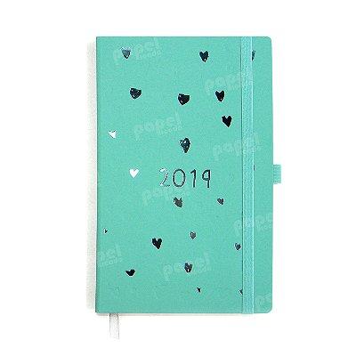 Agenda 2019 Papertalk Corações Azul