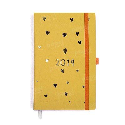 Agenda 2019 Papertalk Corações Amarelo