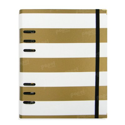 Planner Organizador A5 - Listras douradas