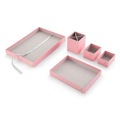 Kit Organizador de Mesa Love Rosa