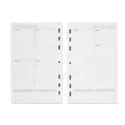 Refil Planner 125x200mm Agenda Sem Data