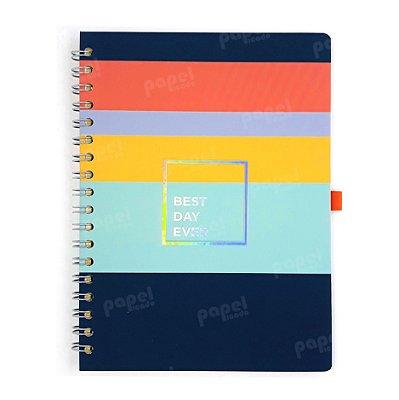 Caderno Espiral Listras Allegro