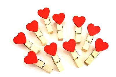 Varal Mini Pregador Coração