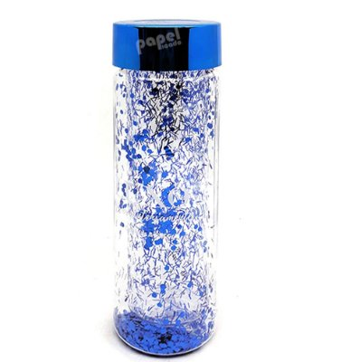 Garrafa Glitter Azul 650ml