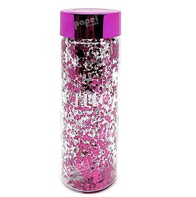 Garrafa Glitter Rosa 650ml