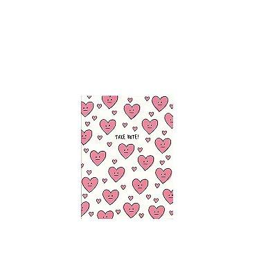 Caderninho Brochura Corações