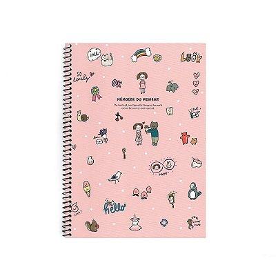 Caderninho Espiral Lovely Rosa