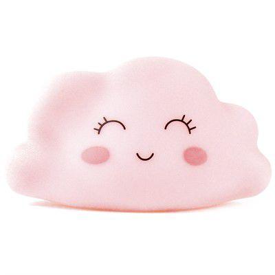Mini Luminária Nuvem Cute Rosa