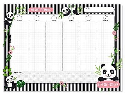 Planner Semanal em Bloco Panda