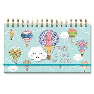 Agenda 2019 Nuvem e Balão Mini Semanal