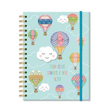 Caderno Nuvem e Balão Grande 96 folhas