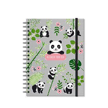 Caderno Panda Médio 200 folhas