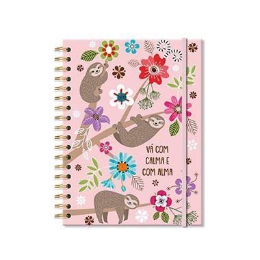 Caderno Médio Preguiça 200 folhas