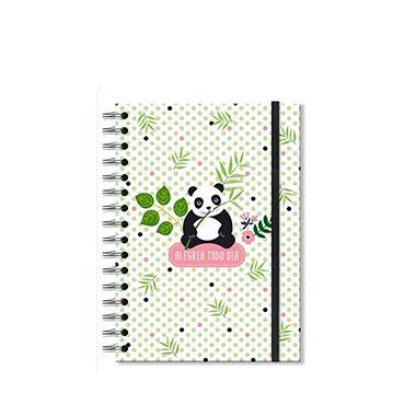 Caderno Midi Panda 96 folhas