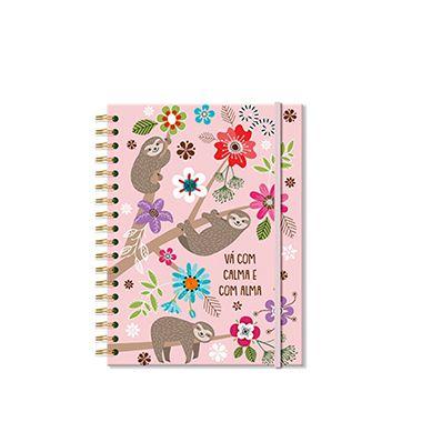 Caderno Midi Preguiça 96 folhas