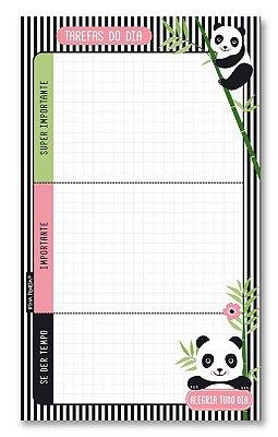 Planner Diário em Bloco Panda