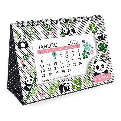 Calendário de Mesa Panda 2019