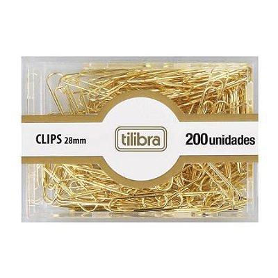 Clips Dourados 28mm Kit 200 unidades