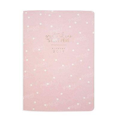 Planner Mensal Brochura Flexível Soho Rosa