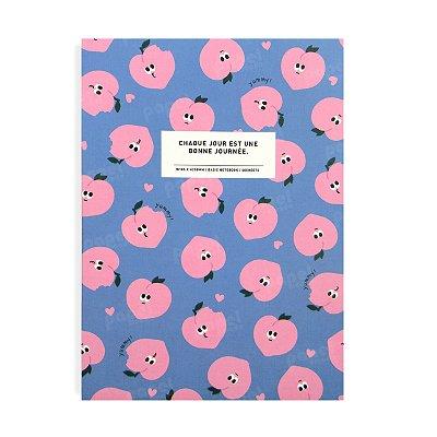 Caderninho Brochura Médio Pêssegos