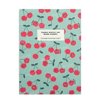 Caderninho Brochura Médio Cerejas