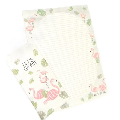Papel de Carta Flamingo Pautado