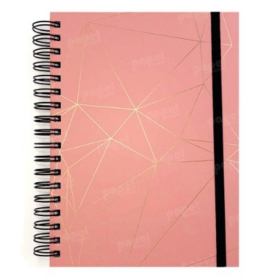 Planner Permanente Rosa Geométrico