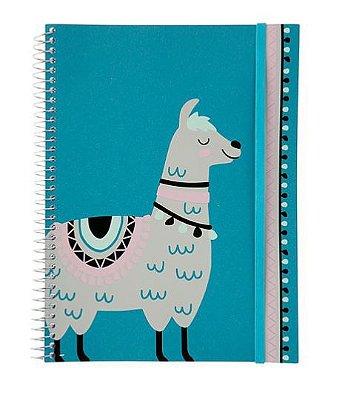 Caderno Flexível Lhama 200 folhas